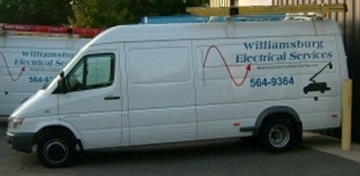 Williamsburg Electrical Services Van